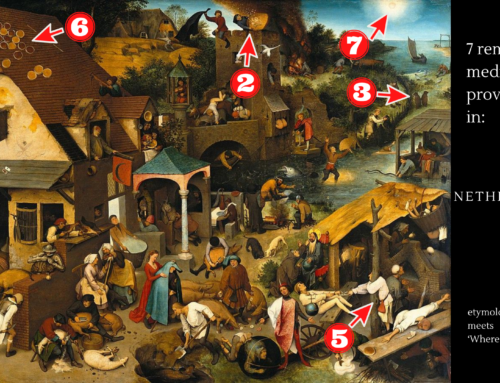 7 Remarkable Medieval Proverbs in Pieter Bruegel's Netherlandish Proverbs: Etymology meets 'Where's Wally?'