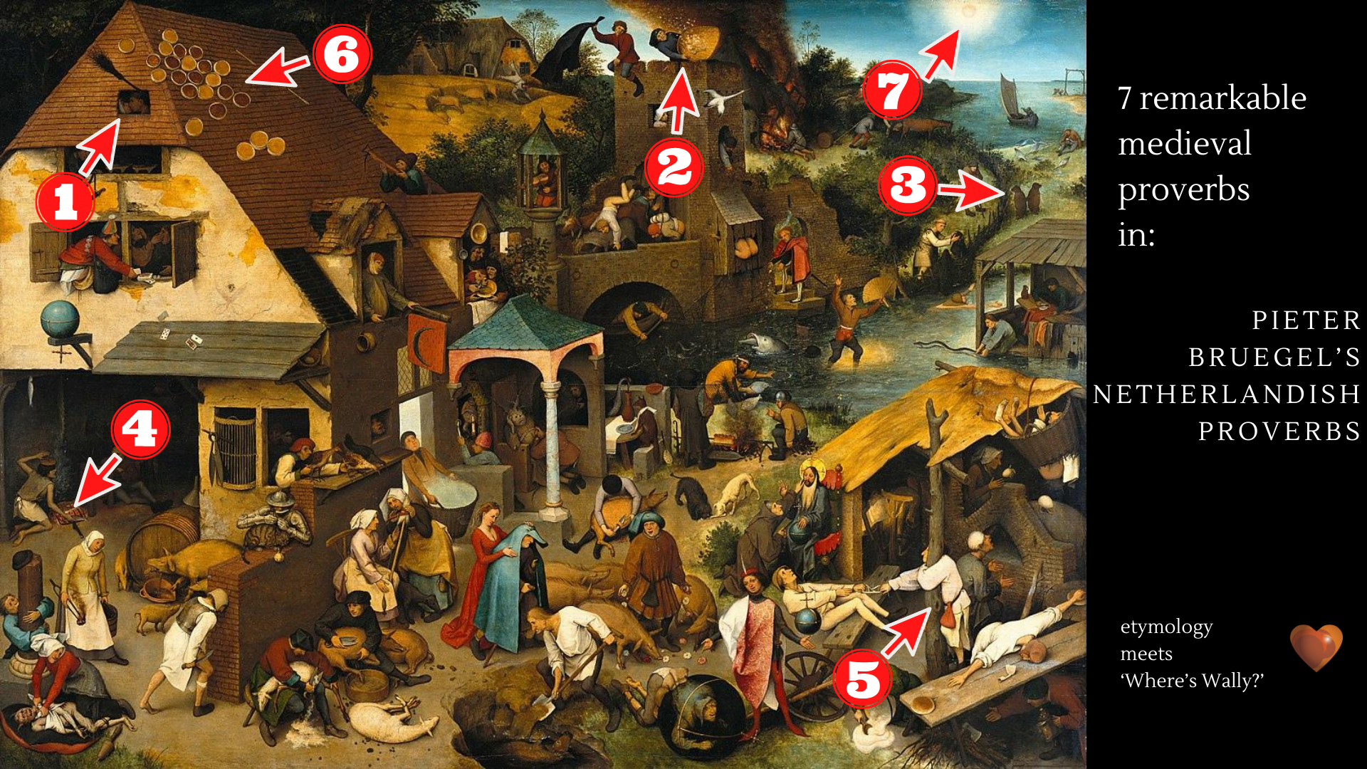 7 remarkable medieval proverbs in Pieter Bruegel's Netherlandish Proverbs