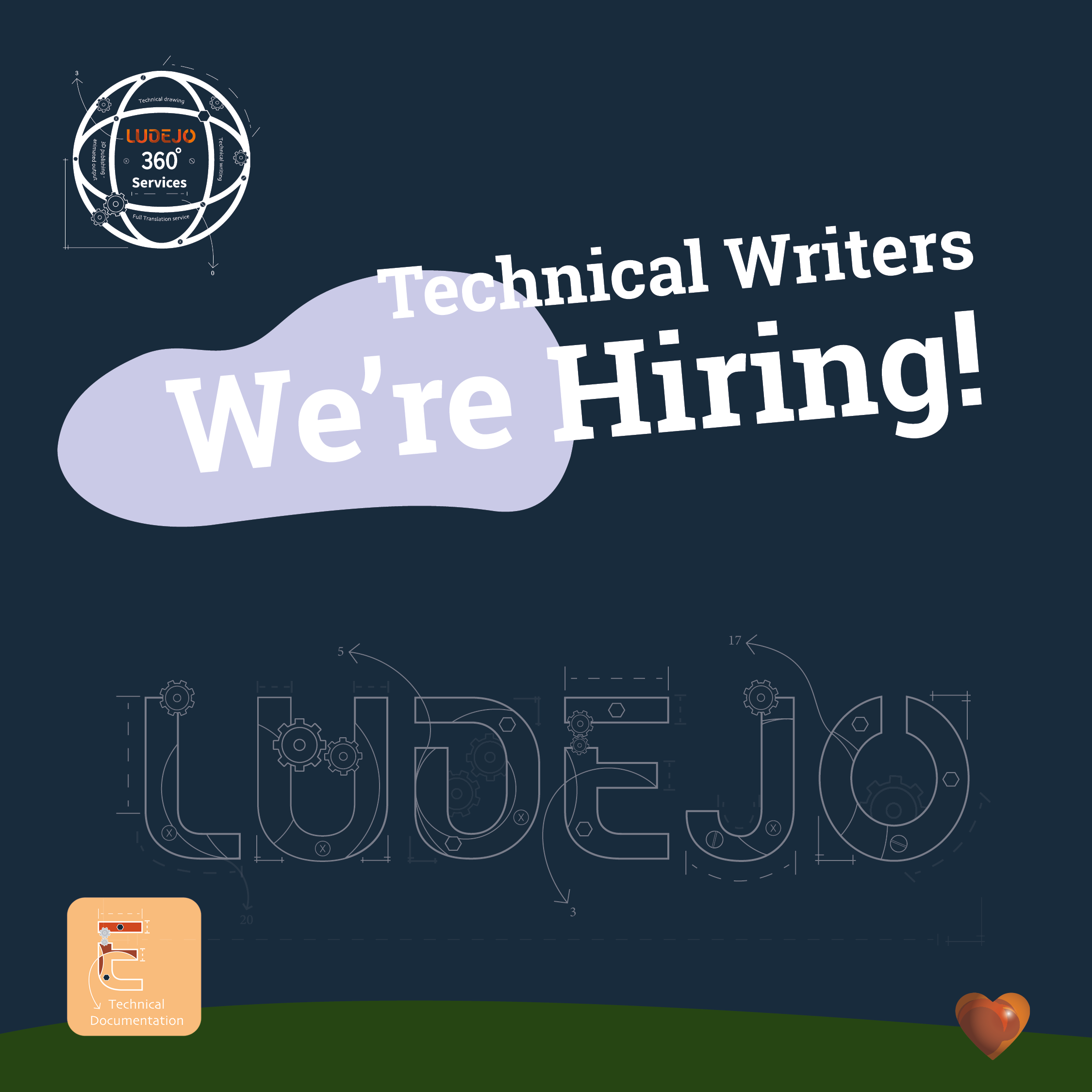 We are looking for Technical Writers! We are hiring!